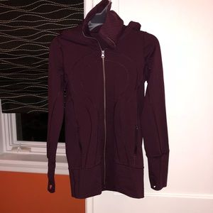 Burgundy Lululemon Running Jacket